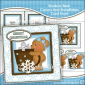 Booboo Bear Cocoa And Snowflakes Card Front