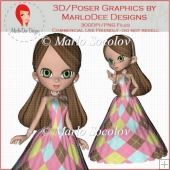 Ballgown Cookie Girl 3 by MarloDee Designs