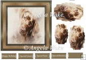Brown labrador 7x7 card