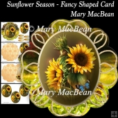 Sunflower Season - Fancy Shaped Card
