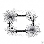 Floral Frame Digital Stamp 2 - Commercial and Personal Use