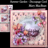 Summer Garden - Decoupage Card