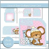 Cocoa & Snow Scalloped Corner Card