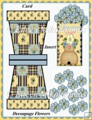 SUNSHINE DAYS Flowerpot Decoupage Card