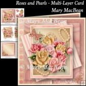 Roses and Pearls - Multi-Layered Card