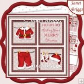 SANTA'S WASHING LINE SQUARES 7.5 Quick Layer Card & Insert Kit