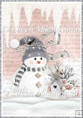 Jingle Bells Snowman Backing Background Paper