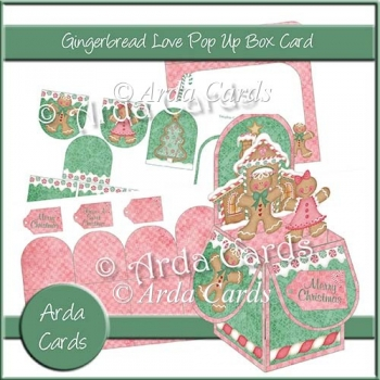 Gingerbread Love Pop Up Box Card