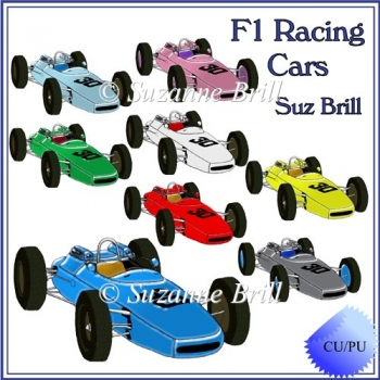 F1 Racing Cars CU Graphics