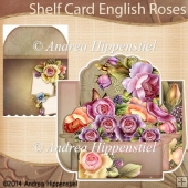 Shelf Card English Rose