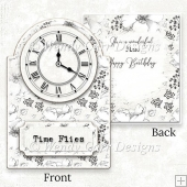 VICTORIAN LADY CLOCK CARD