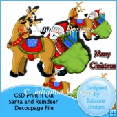 GSD Print n Cut Santa and Reindeer Decoupage File