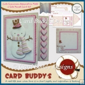 Cute Snowman Assymetric Fold & Side Panel Card Kit