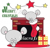 Christmas Mouse Design 1 Colour