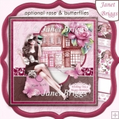 SHOPPING DIVA 8x8 Decoupage & Insert Kit