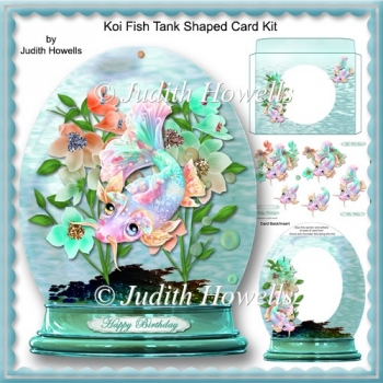 Koi Fish Tank Shaped Card Kit