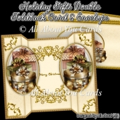 Holiday Gifts Double Foldback Card