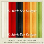 Everyday Colors 1 Cardstock Digital Papers Package