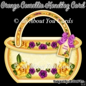 Orange Camellia Handbag Card