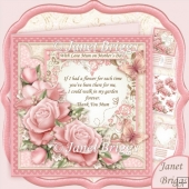Thank You Mum Verse & Pink Roses 8x8 Decoupage Kit