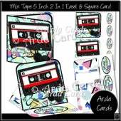 Mix Tape 5 Inch 2 in 1 Easel & Square Cards