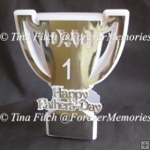 Dad Trophy Card, TF0099, SVG, MTC, SCAL, CRICUT, CAMEO