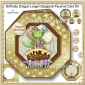 Birthday Dragon Large Octagonal Pyramid Card Kit