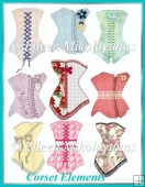 Corset Embellishments for Paper Crafting