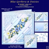 Blue Gerbera & Daisies - 3-Sheet Mini-Kit