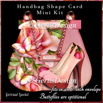 A Day Out Handbag Shoe Shape Card red