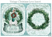 Vintage Christmas Love Insert / Topper