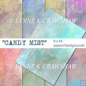 CANDY MIST - 8 x A4 size digital papers/backgrounds CU OK!