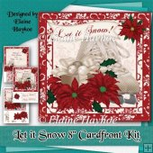 Let it Snow 8x8 Cardfront Kit