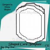 Fancy Shaped Card Template