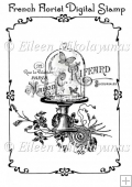 French Florist Digital Stamp