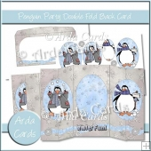 Penguin Party Double Foldback Card