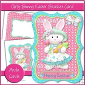 Girly Bunny Easter Bracket Card