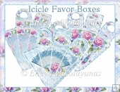 Valentine Roses Icicle Favor Boxes Set