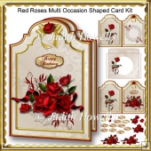 Red Roses Multi Occasion Shaped Card Kit