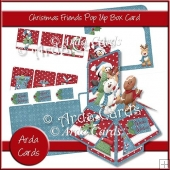 Christmas Friends Pop Up Box Card