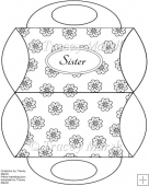 Sister Floral Digitally Stamped Purse Pillow Box