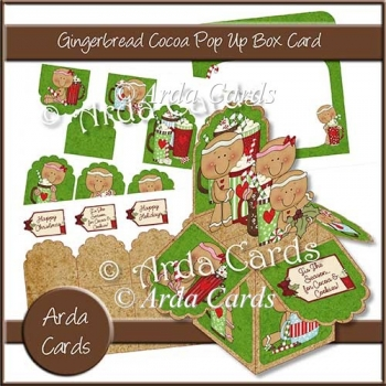 Gingerbread Cocoa Pop Up Box Card