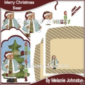 Merry Christmas Bear Tag Card