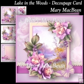 Lake in the Woods - Decoupage Card
