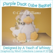 A4 Purple Duck Cube Basket
