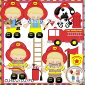 Little Fire Fighters Blonde Designer Resource Graphic