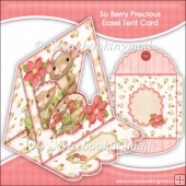 So Berry Precious Easel Tent Card & Envelope