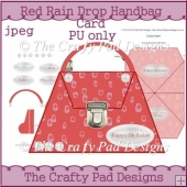 Red Rain Drop Handbag Card