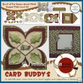 Spirit of the Season Quad Petal Shaped Fold Card Kit