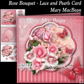 Rose Bouquet - Lace and Pearls Card